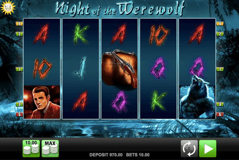 night of the werewolf pokie from merkur